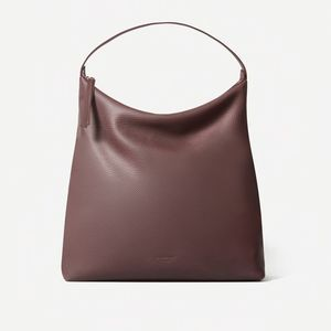 NWT Everlane The Boss Bag Pebbled Leather Burgundy